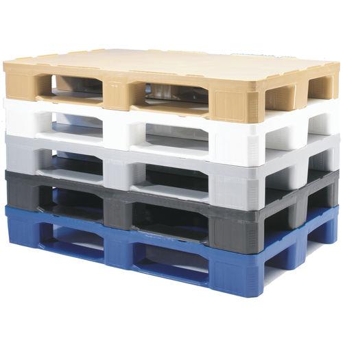 plastic pallet / Euro / transport / stacking