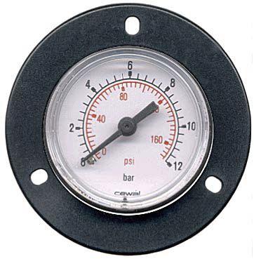 analog pressure gauge / bellows / for air