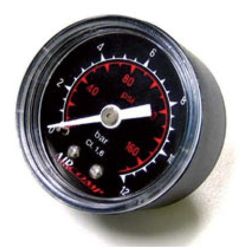 dial pressure gauge / bellows / process / threaded