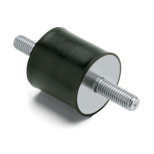 cylindrical anti-vibration mount / metallic / rubber / stainless steel