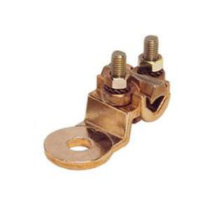mechanical clamping solderless terminal / flat / non-insulated / copper