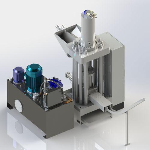 metal chip briquetting presse