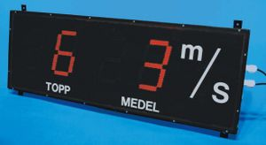 speed indicator / digital / panel-mount / for anemometers