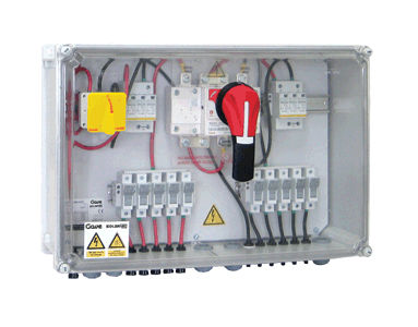 equipped electrical enclosure / wall-mounted / plastic / for photovoltaic applications