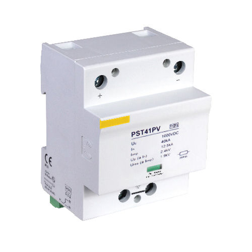 type 1 surge arrester / DIN rail / DC power / for photovoltaïc installations
