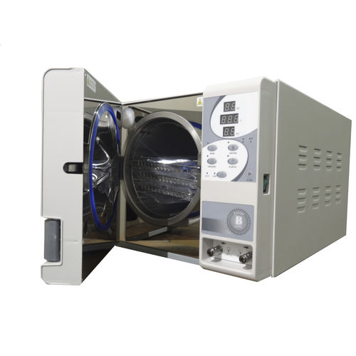 laboratory sterilizer / superheated water / horizontal