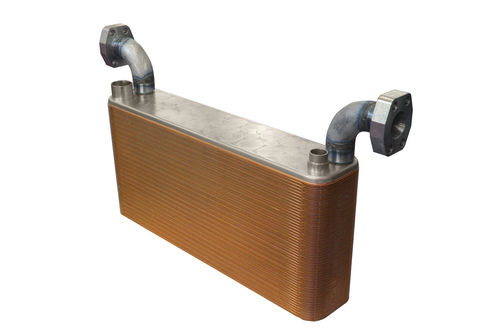 brazed plate heat exchanger / water/oil / for hydraulic systems