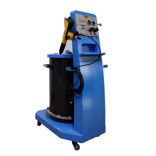 powder coating machine with two electrostatic guns