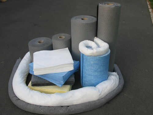 roll absorbent / for hydrocarbons