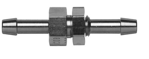 barbed fitting / straight / pneumatic / nickel-plated brass