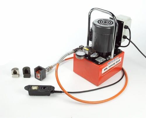 hose crimping machine / semi-automatic / electro-hydraulic