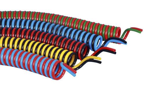 compressed air hose / polyurethane / coiled
