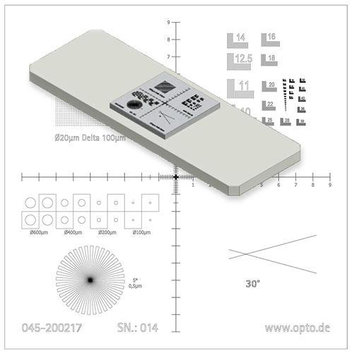 micron-scale measurement calibrator - OPTO