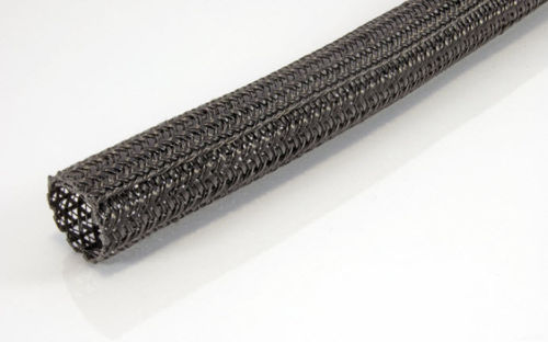 braided sleeve / for hoses / for electrical cables / fabric