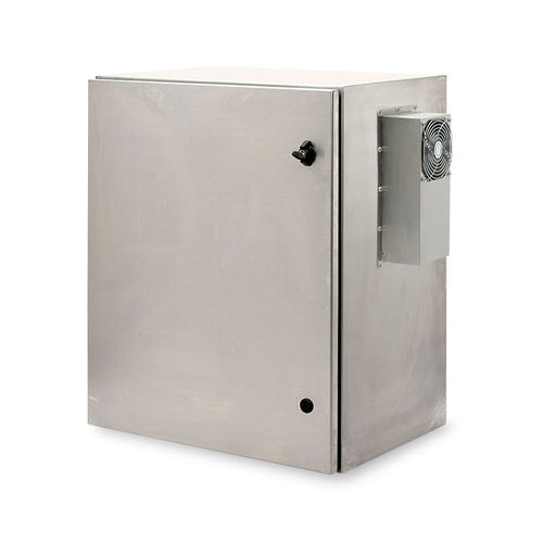 wall-mount enclosure / rectangular / stainless steel / indoor