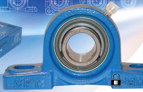 flange bearing unit / roller / metal