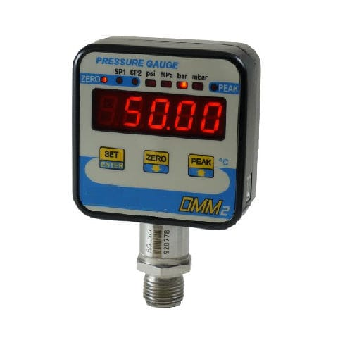digital pressure gauge / differential / process / for gas