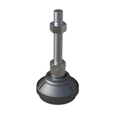 machine foot / polyamide / adjustable / for heavy loads