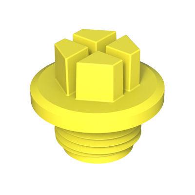 hexagonal plug / threaded / plastic / leak-proofing