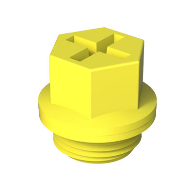 hexagonal plug / threaded / plastic / protection