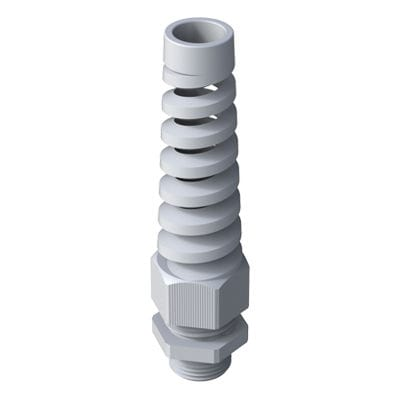 polyamide cable gland / IP68 / with spiral flex protector