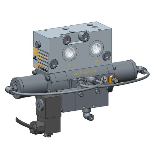 electropneumatic valve / control / dual-line / grease