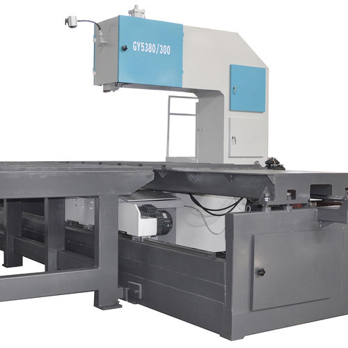 band saw / cut-off / sliding table / for steel