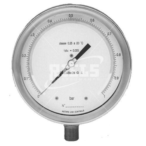 analog pressure gauge / diaphragm / for gas / for liquids