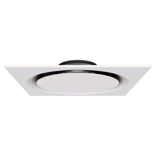 circular air diffuser / square / flush / ceiling
