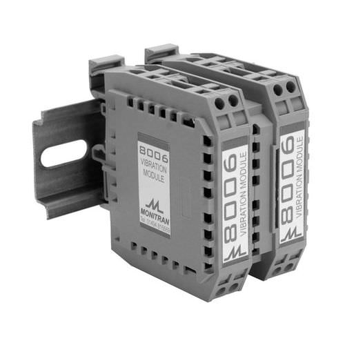DIN rail signal conditioner / for vibration measurement