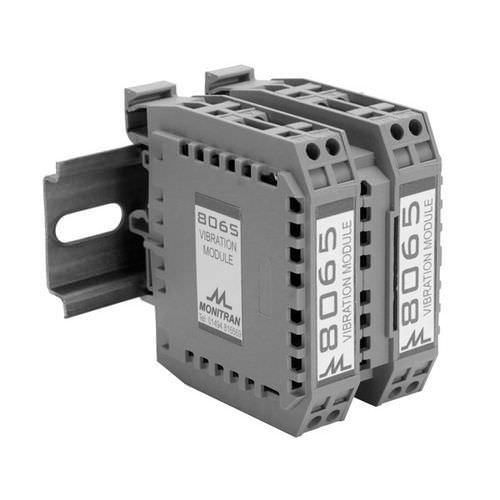 DIN rail signal conditioning module / for vibration measurement