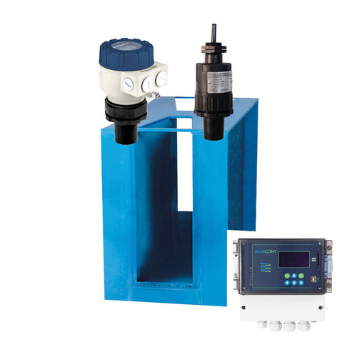 open-channel flow meter / ultrasonic / for water / for wastewater
