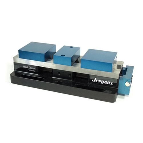 machine tool vise / hydraulic / low-profile / compact