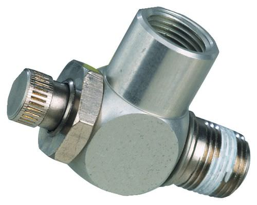 piston check valve / flow-control / brass / needle
