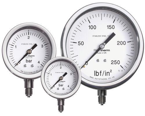 dial pressure gauge / Bourdon tube / capsule / for vacuum