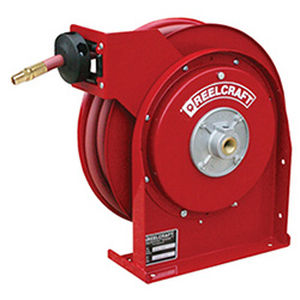 hose reel / self-retracting / fixed / for air