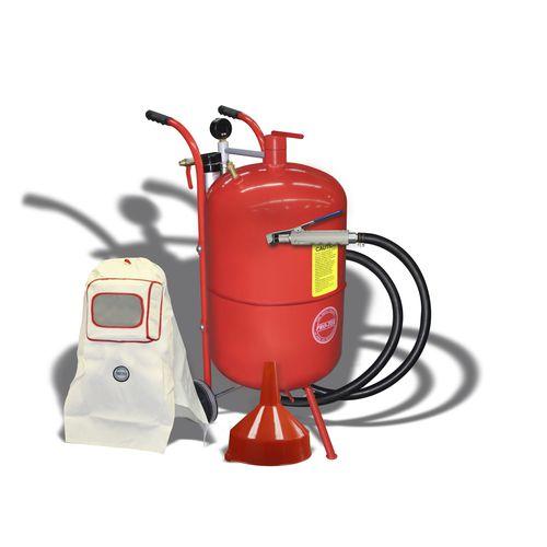 pressure sandblasting machine / manual / mobile