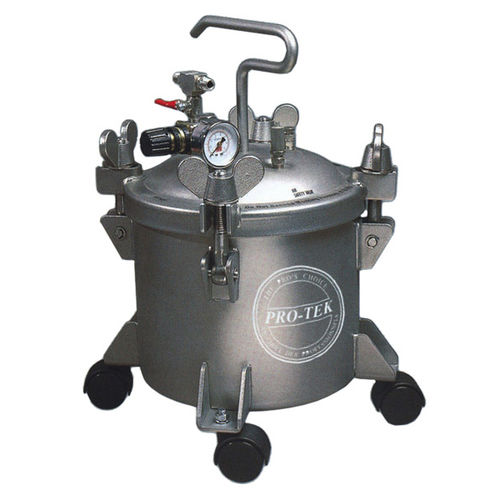 paint tank / stainless steel / pressure / with agitator