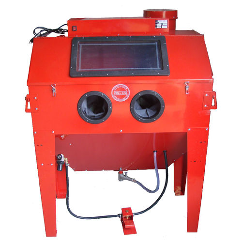 suction blast cabinet / manual / for heavy-duty applications