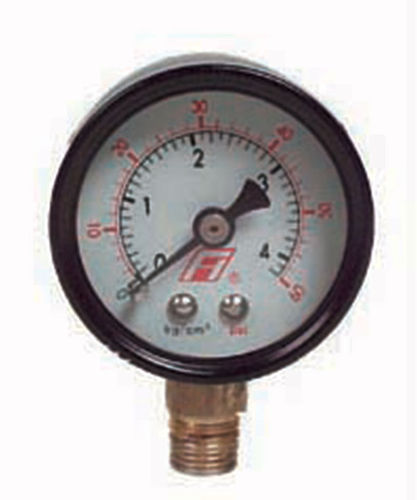 analog pressure gauge / Bourdon tube / process / threaded