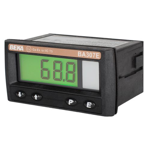 temperature indicator / digital / DIN rail / loop-powered