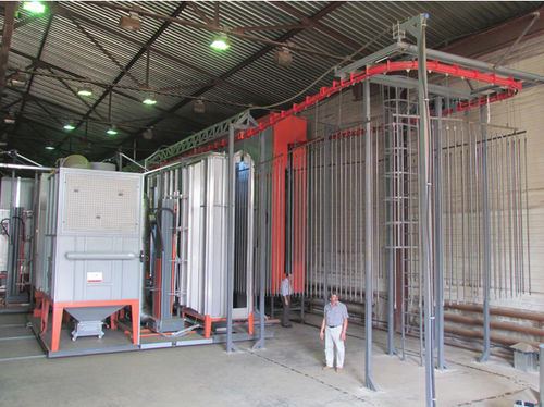 automatic powder coating line