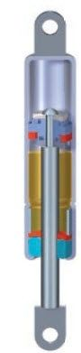 gas spring with hydraulic damping