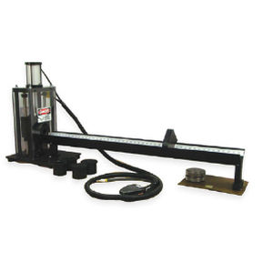 rubber cutting machine / guillotine / for hoses / NC