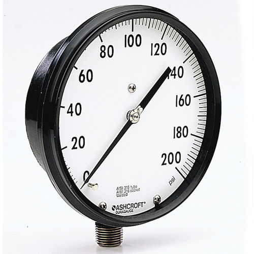 analog pressure gauge / Bourdon tube / process / stainless steel