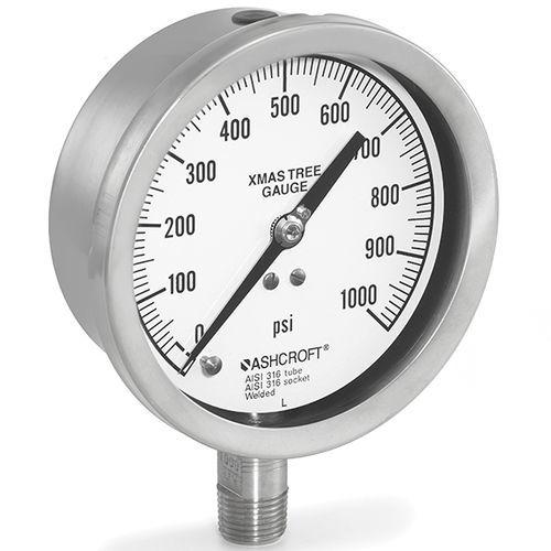 analog pressure gauge / Bourdon tube / for gas / for oil