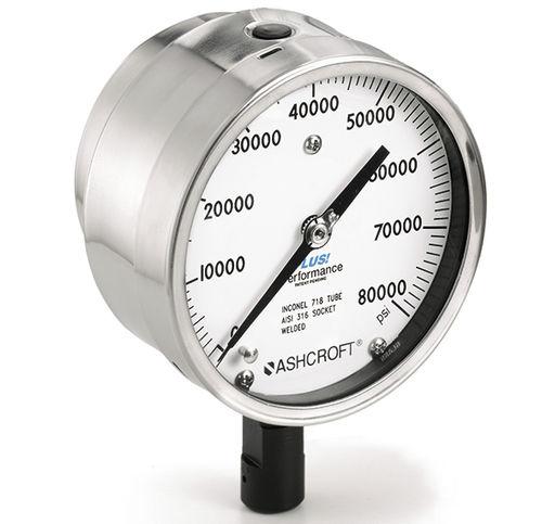 dial pressure gauge / liquid-filled Bourdon tube / process / for gas