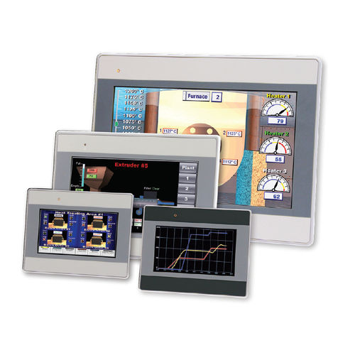 operator terminal with touch screen / panel-mount / 480 x 272 / 800 x 480
