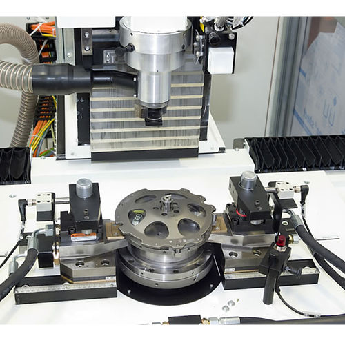 vertical balancing machine / dynamic / for clutch plates / automatic
