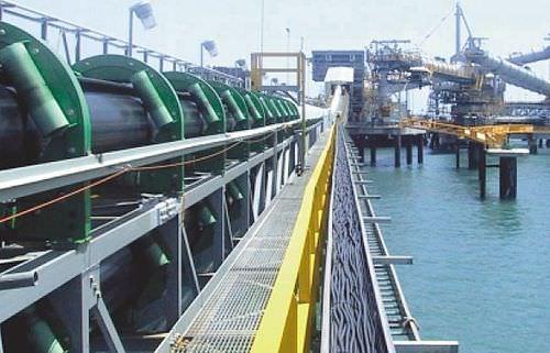 tubular conveyor belt / flexible / fabric / high-resistance